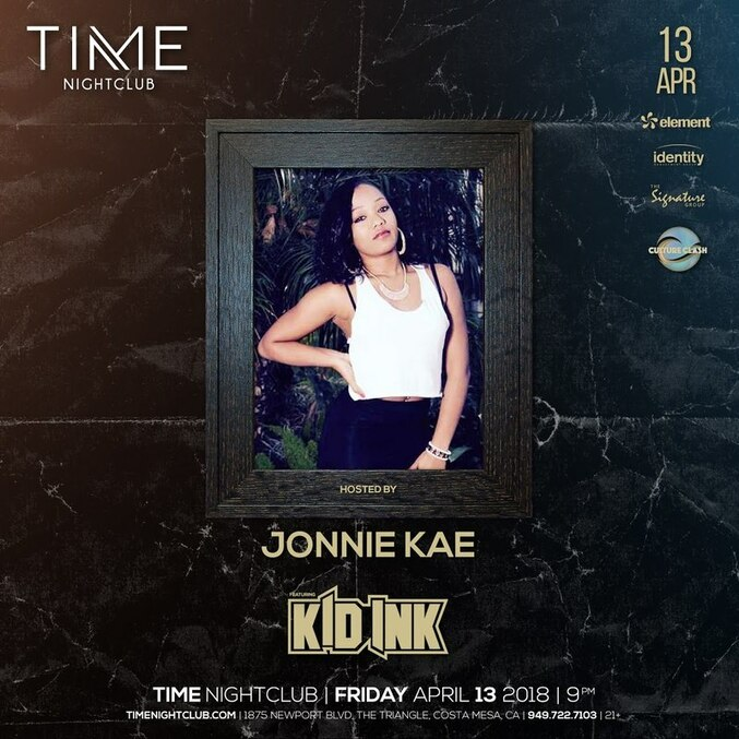 TIME Nightclub - Singer/Songwriter Jonnie Kae made an appearance on April 13th, 2018